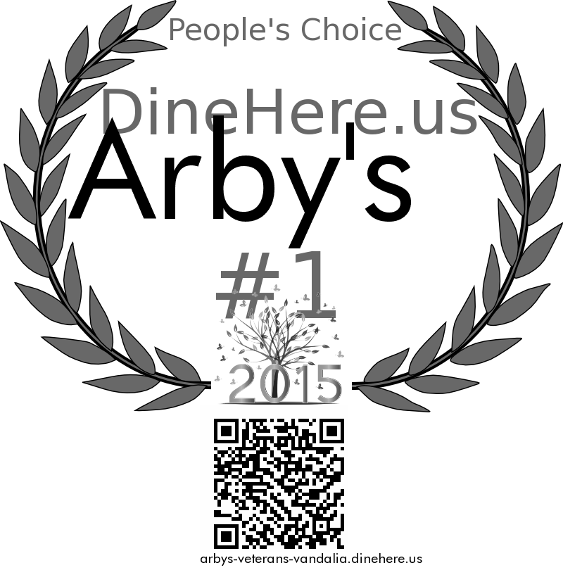 Arby's DineHere.us 2015 Award Winner